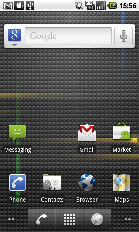 Novi izgled početne stranice Android 2.2.